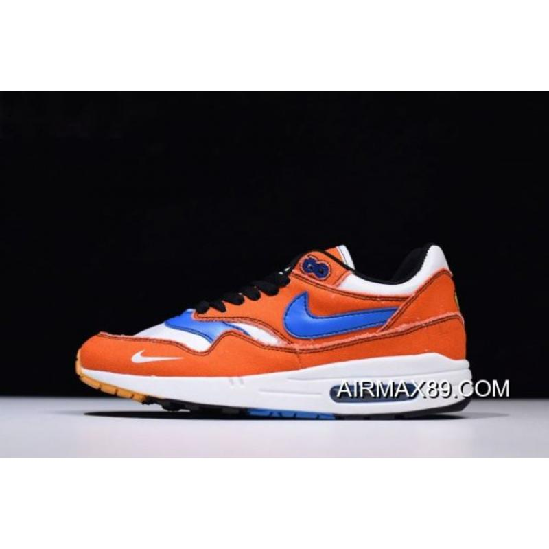"lowest price 285ac 817a1 Custom Dragon Ball Z X Nike Air Max 1 ""Goku"" Orange Blue White ..."