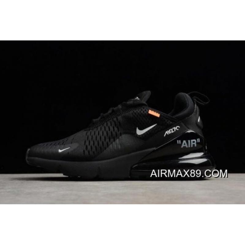 4f8c7f6e38294a 2020 Authentic Off-White X Nike Air Max 270 Black White Men s And Women s  ...