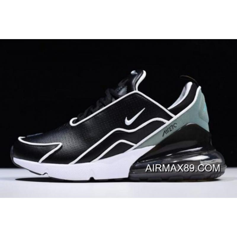 a81e282679 Women/Men Nike Air Max 270 Flyknit Black/White-Light Green AH8060- ...
