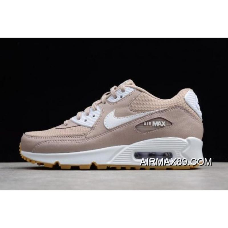 pretty nice d5b9d ded49 Women s Nike Air Max 90 Essential Diffused Taupe White-Gum 325213-210 2020  ...