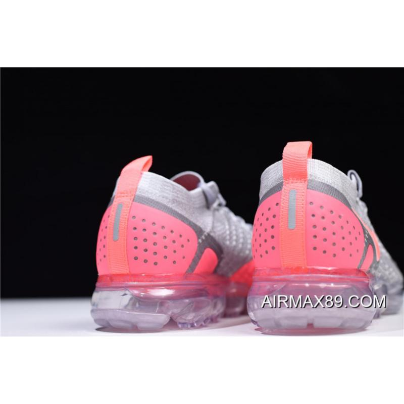 408c196591ff ... 2020 Discount Women s Nike Air VaporMax Flyknit 2 Atmosphere Grey Crimson  Pulse 942843-005 ...