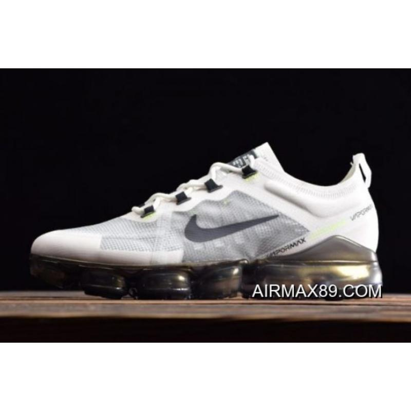 "ad75dd835f5e0 2020 Authentic Nike Air VaporMax 2019 PRM ""White Lime"" White/Dark Grey- ..."
