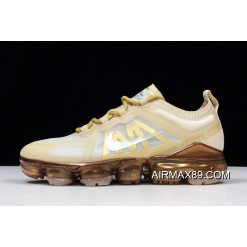 Women Nike Air VaporMax 2019 Wmns WhiteMetallic Gold AR6632