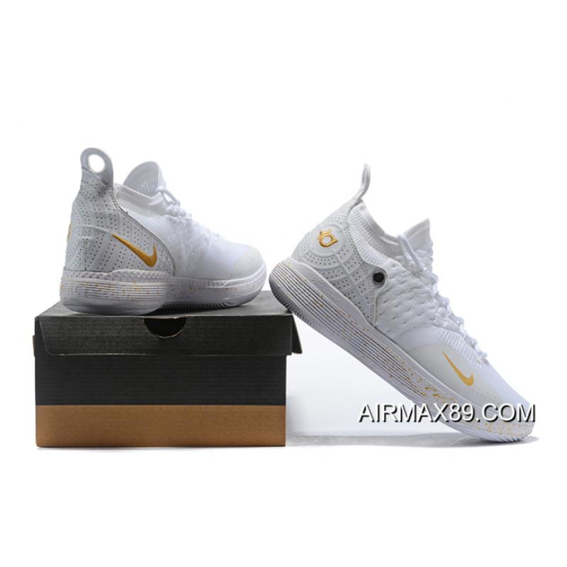 1d2dba60f748 ... Men s Nike KD 11 White Metallic Gold Basketball Shoes On Sale Top Deals  ...