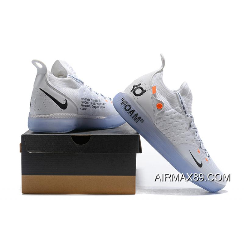 db58cb03f46c ... Tax Free Off-White X Nike KD 11 White Black Orange Basketball Shoes ...