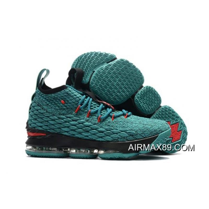 6319e689d2b7f Nike LeBron 15 Light Green Black-Red Buy Now ...
