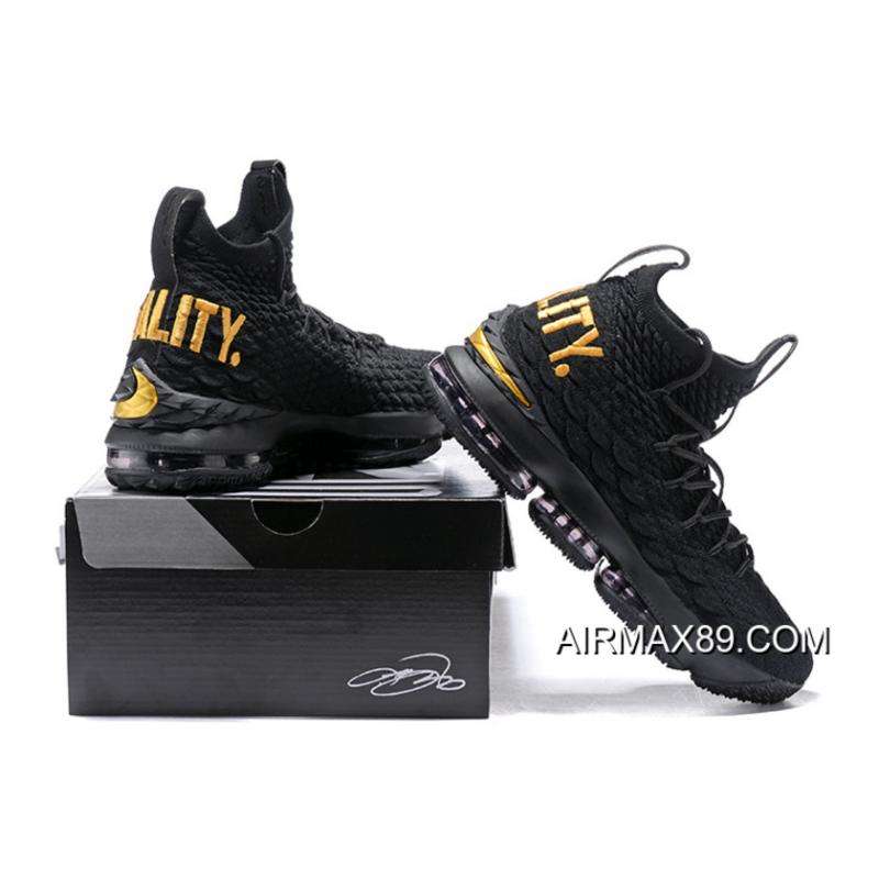 7e7c5ea0f36 ... Big Deals Nike LeBron 15  Equality  PE Black Metallic Gold ...