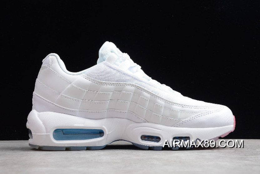 new style b3fbd b2912 Nike Air Max 95 White Photo Blue-Glacier Blue-Metallic Silver AQ7981-