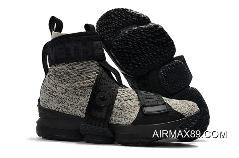 newest a1846 4b707 Kith X Nike LeBron 15 Lifestyle Concrete For Sale