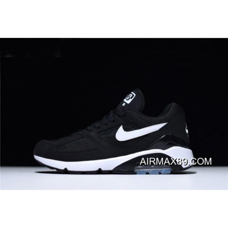 2020 Latest Nike Air Max 180 Black White Men's And Women's