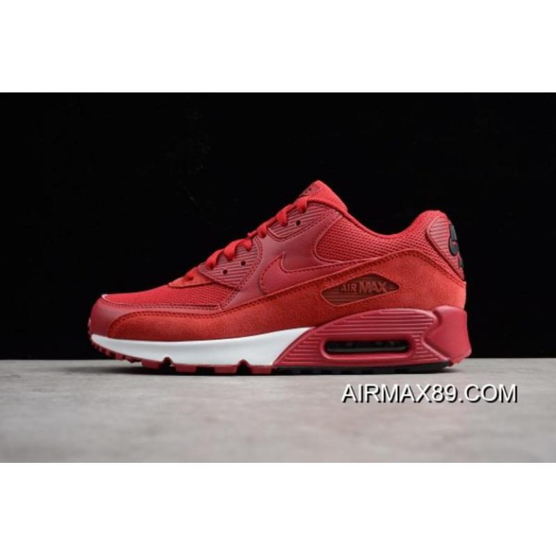 2020 Big Deals Nike Air Max 90 Essential Gym RedBlack White