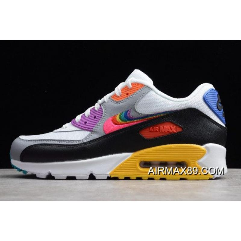 "2020 Authentic Nike Air Max 90 ""Be True"" WhiteMulti Color"